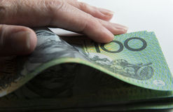Liczyć pieniądze Obrazy Stock