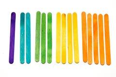 Liczyć z popsicle kijami Obraz Royalty Free