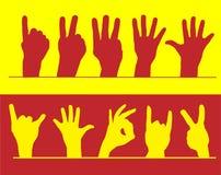 liczyć palców Obrazy Royalty Free