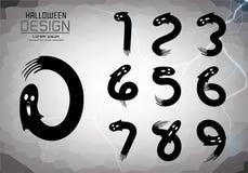 Liczy set liczby logo lub ikona, Halloween pojęcie zdjęcie stock