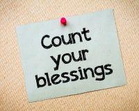 Liczy Twój błogosławieństwa Zdjęcie Stock