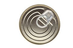 Lid. Isolated lid of tin can on white stock image