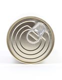 Lid. Isolated lid of tin can on white stock images