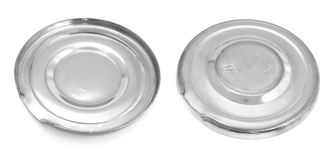 Lid for a can. Two kinds of a lid for a can. Panoramic image from several pictures. The file has native resolution. The image contains a contour for cropping Royalty Free Stock Image