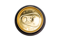 Lid of drinks can with Do Not Litter and Please Recycle inscriptions Royalty Free Stock Images