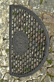 Lid of sewer Stock Photo