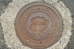 Lid of sewer Stock Photos