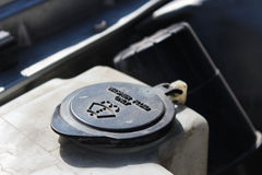 The lid of the washer fluid reservoir from the engine Royalty Free Stock Photography