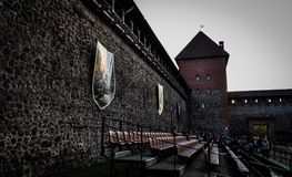 lida belarus Lida Castle Bier-Festival Lizenzfreie Stockfotografie