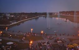 lida belarus Lida Castle Festival de la cerveza Imagenes de archivo