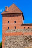 Lida castle from red brick and stone. Grodno region, Belarus stock photography