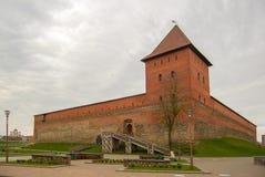 Lida-Schloss in Weißrussland, seit 1323 Die historische Mitte der Stadt von Lida stockbild