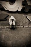 lida väggkvinnan Royaltyfria Foton