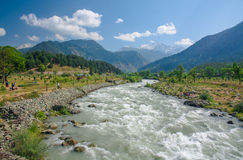 Lidder river view in pahalgam Royalty Free Stock Image