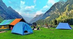 lidderwat di campeggio del posto Fotografia Stock