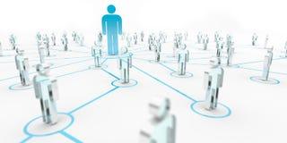 Lider łączy grupy ludzi 3D rendering Zdjęcia Royalty Free