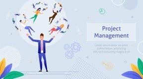 Lider Żongluje z ludźmi grupa robocza ilustracji