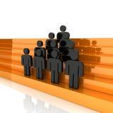 lider biznesu drużyna ilustracja wektor
