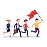 Lider biznesu prowadzi sposób jego koledzy ilustracji