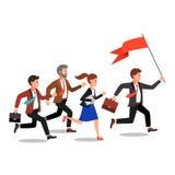 Lider biznesu trzyma dużą flaga royalty ilustracja