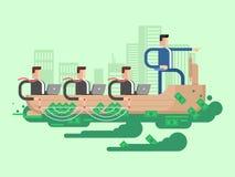 Lider firmy biznesowy statek ilustracja wektor
