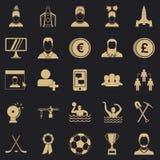Lider ikony ustawiać, prosty styl ilustracja wektor