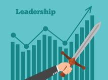 Lider motywuje drużyny Lider biznesu pokazuje sposób sukces Ilustracji