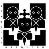 Lider na chessboard Obrazy Royalty Free