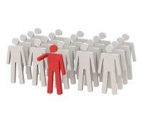Lider pozycja przed tłumem. ilustracja wektor