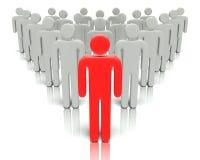 Lider przed grupowi ludzie. ilustracji