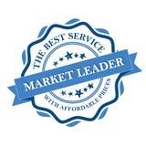 Lider rynku Najlepszy usługa z niedrogimi cenami ilustracji