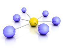 Lider sfera w centrum konceptualna sieć ilustracji