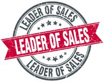 Lider sprzedaż znaczek ilustracja wektor