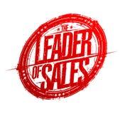Lider sprzedaży pieczątki odcisk ilustracja wektor