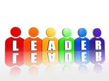 Lider w kolorowych osoba znakach Zdjęcie Stock