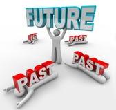 Lider z wzrokiem Akceptuje Przyszłościową zmianę Inny Wtykający wewnątrz Past ilustracji