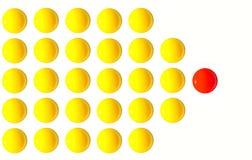 Lidera jajecznego yolk jeden pozycja out od tłumu CEO Fotografia Royalty Free