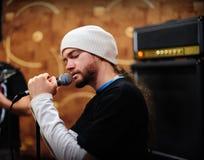 lidera piosenkarz Obrazy Stock