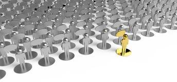 Liderança como o conceito ilustração stock