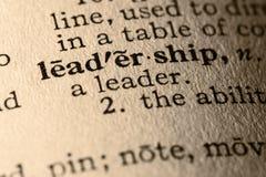 A liderança da palavra Fotos de Stock Royalty Free