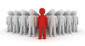 liderança do ícone dos povos 3d Foto de Stock Royalty Free
