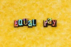 Liderança do feminismo da diversidade do pagamento igual fotografia de stock