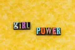 Liderança do feminismo da mulher do poder da menina imagens de stock