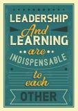 A liderança e a aprendizagem são entre si citações indispensáveis ilustração royalty free
