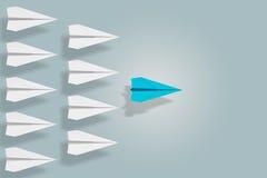 Liderança e conceito da ambição com plano de papel rendição 3d Foto de Stock
