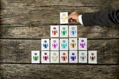 Liderança e conceito da gestão da equipe Imagem de Stock Royalty Free