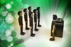 Liderança e equipe Imagem de Stock