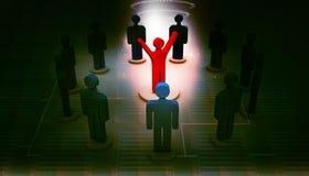 liderança e equipe do ícone da pessoa Fotos de Stock Royalty Free