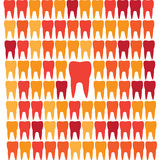 Liderança geométrica da grade dos dentes Fotos de Stock
