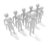 Liderança: grupo dos homens 3d brancos com líder, ilustração 3d Fotos de Stock